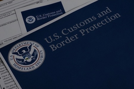 En-tête de document du U.S. Customs and Border Protection
